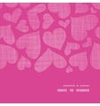 Pink lace hearts textile texture horizontal frame vector image vector image