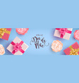 portuguese mothers day banner gifts and flowers vector image vector image