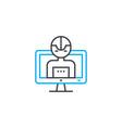 program control linear icon concept program vector image vector image