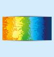 rainbow flyer leaflet vector image vector image