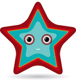 Red and blue starfish on a white background vector image vector image