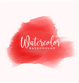 red hand painted watercolor texture background vector image vector image