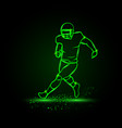 running american football player without ball vector image