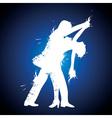 salsa couple dancer vector image