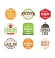 Serbian cuisine label vector image vector image