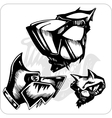 Set - Aggressive Dogs vector image vector image