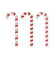 set of candy canes on white background eps10 vector image
