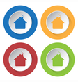 set of four icons - home vector image