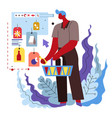 shopping online and delivery service guy vector image