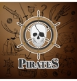 skull pirate and Hand drawn icon vector image vector image