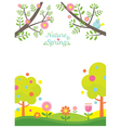 Spring Season Background vector image vector image