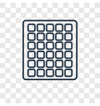 square grid concept linear icon isolated on vector image