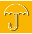 umbrella icon design vector image vector image