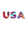 usa concept retro colorful word art vector image