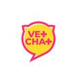 vet chat icon veterinary doctor online logo vector image