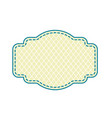 vintage frame set on pattern retro vector image