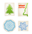vintage scratched post stamps woth christmas signs vector image vector image