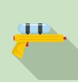 water gun pistol icon flat style vector image vector image