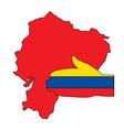 Welcome to Ecuador vector image vector image
