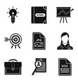 work document icons set simple style vector image vector image