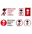 World day against child labour vector image