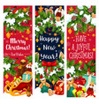year holiday greeting banners vector image vector image