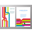 Colorful Brochure design a4 template vector image