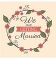 invitation weddign card romantic floral design vector image