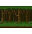 Cartoon computer games night forest landscape vector image