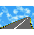 road in the sky vector image