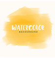 abstract yellow hand painter watercolor texture vector image
