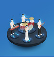 augmented reality isometric composition vector image vector image