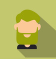 bearded men face hipster character fashion vector image