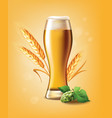 beer poster template for classic white beer ad vector image vector image