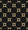 black and gold geometric seamless pattern vector image vector image
