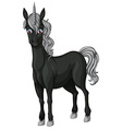 Black unicorn vector image