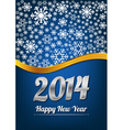 Blue happy new year card vector image vector image