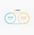 business infographics thin line with 2 options vector image
