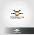 camera expert - camera service logo vector image