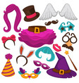 carnival masks and costume accessory flat vector image vector image