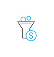 cash inflow 83 thin line stroke icon cash vector image