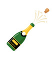 champagne bottle cartoon icon wine bottle vector image