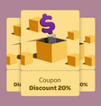 coupon promotion with flat vector image