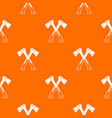 crossed axes pattern seamless vector image vector image