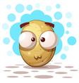 cute crazy potato - cartoon vector image vector image