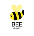 cute striped bee abstract cartoon bee flying vector image