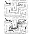 easy sunken treasure maze vector image vector image