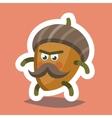 Emoticon Icon Cheeky Nut vector image