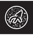 flat icon in black and white style Zodiac sign vector image vector image