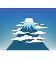 fuji mountain vector image